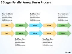 Parallel Processing Arrow Linear PowerPoint Templates Ppt Backgrounds For Slides