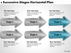 Parallel Processing Definition 6 Successive Stages Horizontal Plan PowerPoint Templates