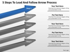 Parallel Processing Examples 5 Steps To Lead And Follow Arrow PowerPoint Templates