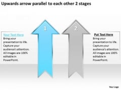 Parallel To Each Other 2 Stages Consulting Business Plan Template Free PowerPoint Templates