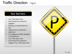 Park Road Traffic Direction PowerPoint Slides And Ppt Diagram Templates