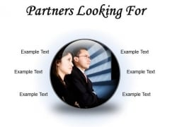 Partners Looking For Success PowerPoint Presentation Slides C