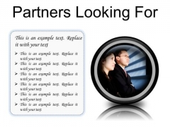 Partners Looking For Success PowerPoint Presentation Slides Cc