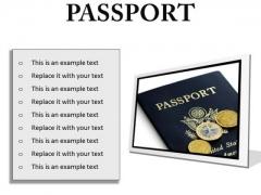Passport Vacation PowerPoint Presentation Slides F
