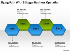 Path With 5 Stages Business Operation Ppt How To Right Plan PowerPoint Templates