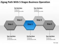 Path With 5 Stages Business Operation Ppt Plan Sample PowerPoint Slides