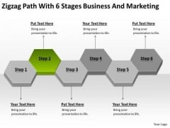 Path With 6 Stages Business And Marketing Year Plan Template PowerPoint Templates