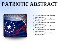Patriotic Abstract Americana PowerPoint Presentation Slides S