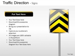 Pavement Traffic Direction PowerPoint Slides And Ppt Diagram Templates