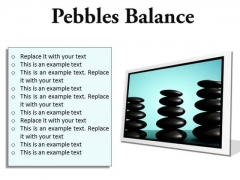 Pebbles Balance Metaphor PowerPoint Presentation Slides F