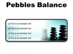 Pebbles Balance Metaphor PowerPoint Presentation Slides R