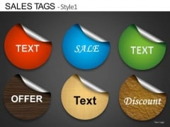 Peeled Stickers Text Boxes Graphics PowerPoint Slides Ppt Templates