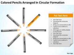 Pencils Arranged In Circular Formation Ppt Business Plan PowerPoint Slides