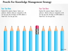 Pencils For Knowledge Management Strategy PowerPoint Template