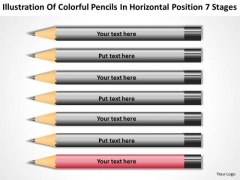 Pencils In Horizontal Position 7 Stages Ppt Business Planning Software PowerPoint Slides