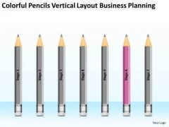 Pencils Vertical Layout Business Planning Ppt Outlines Free PowerPoint Templates