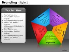Pentagon Shape Process Diagram PowerPoint Slides Ppt Templates