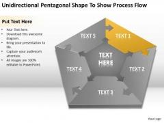 Pentagonal Shape To Show Process Flow Ppt Startup Business Plans PowerPoint Slides