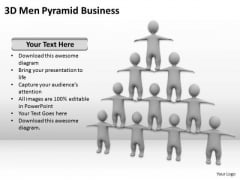 People Business 3d Men Pyramid PowerPoint Slides