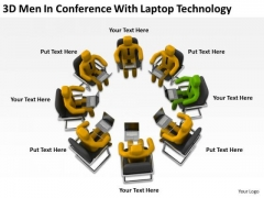 People Business Conference With Laptop Technology PowerPoint Templates Ppt Backgrounds For Slides