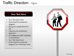 People Crossing Traffic Direction PowerPoint Slides And Ppt Diagram Templates