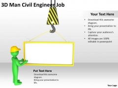 People In Business 3d Man Civil Engineer Job PowerPoint Templates