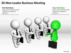 People In Business 3d Men Leader PowerPoint Theme Meeting Templates