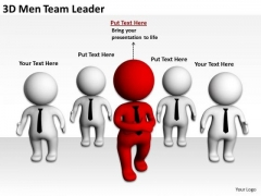 People In Business 3d Men Team Leader PowerPoint Templates