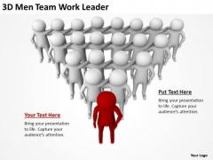People In Business 3d Men Team Work Leader PowerPoint Templates