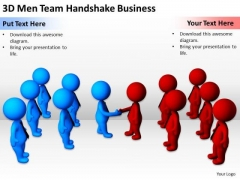People In Business Team Handshake PowerPoint Templates Free Download