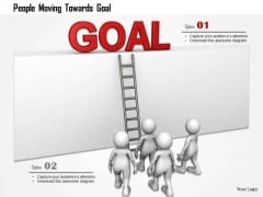 People Moving Towards Goal PowerPoint Templates