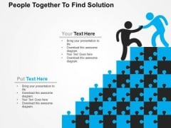 People Together To Find Solution PowerPoint Template