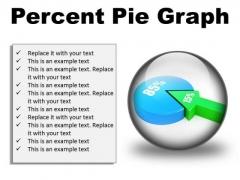 Percent Pie Graph Business PowerPoint Presentation Slides C