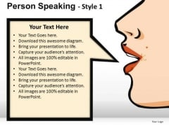 Person Speaking PowerPoint Presentation Slides And Ppt Templates