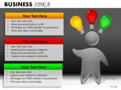 Person With Ideas PowerPoint Ppt Templates