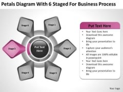 Petals Diagram With 6 Staged For Business Process Ppt Film Plan PowerPoint Templates