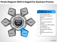 Petals Diagram With 6 Staged For Business Process Ppt Plan Help PowerPoint Templates