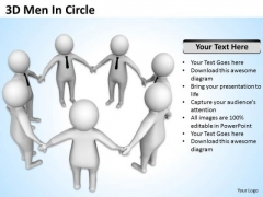 Pictures Of Business Men 3d Circle PowerPoint Slides