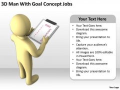 Pictures Of Business Men 3d Man With Goal Concept Jobs PowerPoint Templates