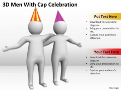 Pictures Of Business Men 3d With Cap Celebration PowerPoint Slides