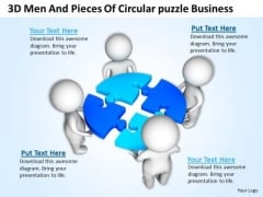 Pictures Of Business Men Circular Puzzle PowerPoint Presentation Slides