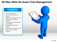 Pictures Of Business Men His Goals Time Management PowerPoint Templates Ppt Backgrounds For Slides