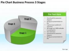 Pie Chart Business Process 3 Stages Ppt Plan Development PowerPoint Templates