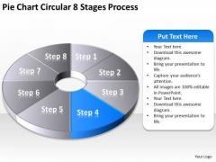 Pie Chart Circular 8 Stages Process How To Write Business Plan PowerPoint Templates
