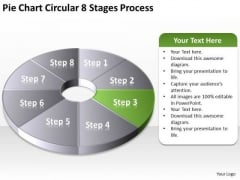 Pie Chart Circular 8 Stages Process Insurance Agency Business Plan PowerPoint Templates