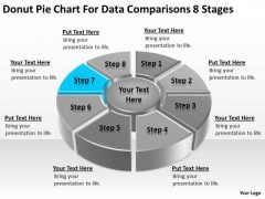 Pie Chart For Data Comparisons 8 Stages Sample Business Plans Free PowerPoint Templates