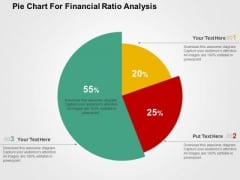 Pie Chart For Financial Ratio Analysis PowerPoint Templates