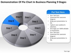 Pie Chart In Business Planning 9 Stages Ppt Blank Template PowerPoint Slides