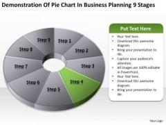 Pie Chart In Business Planning 9 Stages Ppt Plans For Free PowerPoint Slides