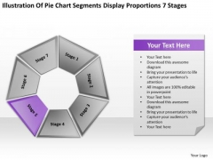 Pie Chart Segments Display Proportions 7 Stages Ppt Business Plan PowerPoint Slides